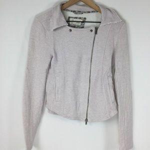 Anthropologie Asymmetrical Zip Lightweight Jacket